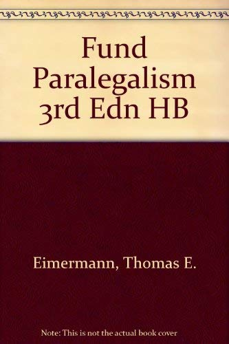 9780316231343: Fundamentals of Paralegalism, Third Edtition with Other