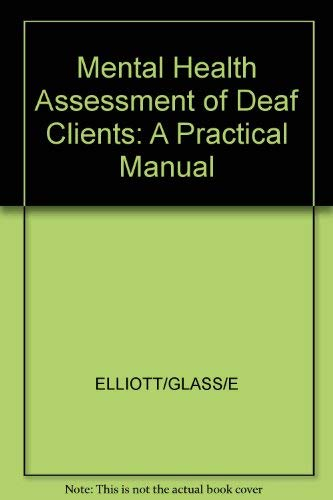 9780316233132: Mental Health Assessment of Deaf Clients: A Practical Manual