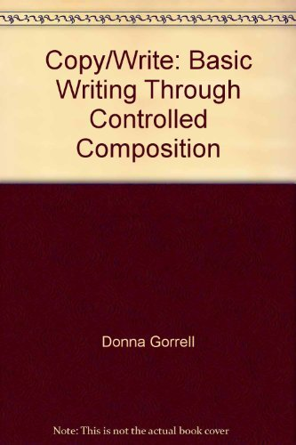 9780316321334: Copy/write, basic writing through controlled composition