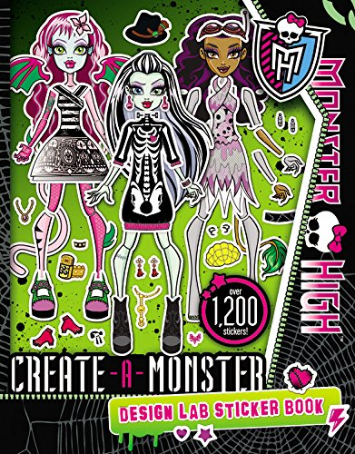 9780316337465: Monster High: Create-A-Monster Design Lab Sticker Book