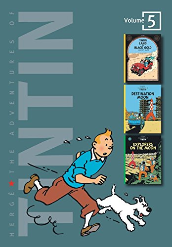 9780316358163: The Adventures of Tintin, Vol. 5: Land of Black Gold / Destination Moon / Explorers on the Moon (3 Volumes in 1)