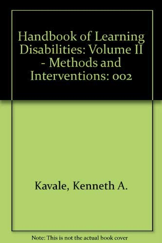 Handbook of Learning Disabilities Vol. II : Kavale, Kenneth A.;