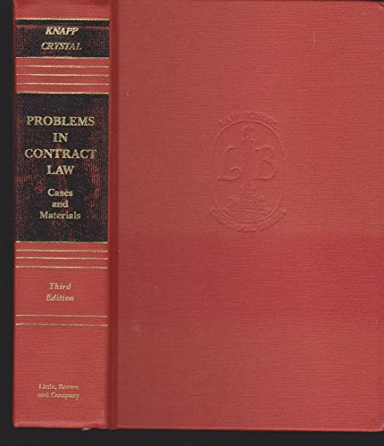 9780316499293: Problems in Contract Law, Third Edition (Little, Brown Series on Gerontology)