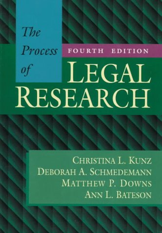 9780316507325: Process of Legal Research