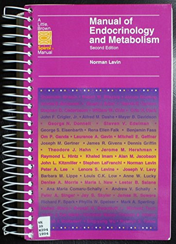 9780316516570: Manual of Endocrinology and Metabolism