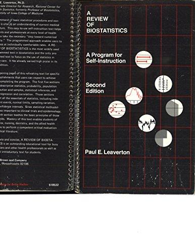 9780316518529: A Review of Biostatistics: A Program for Self-Instruction