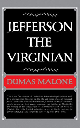 9780316544740: Jefferson the Virginian (Jefferson and His Time, Vol. 1)