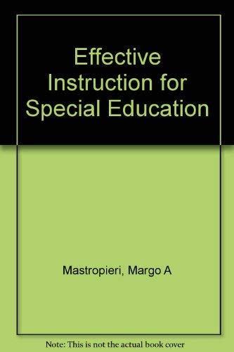 9780316549998: Effective Instruction for Special Education