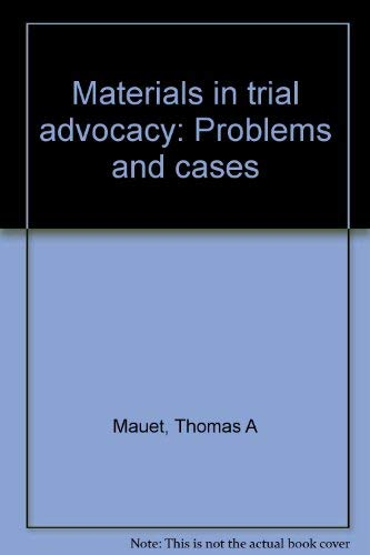 9780316550871: Materials Trial Advocacy Edn2