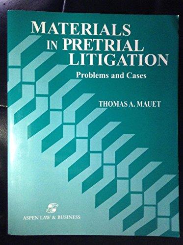 9780316551021: Materials in Pretrial Litigation