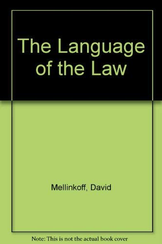 9780316566278: The Language of the Law