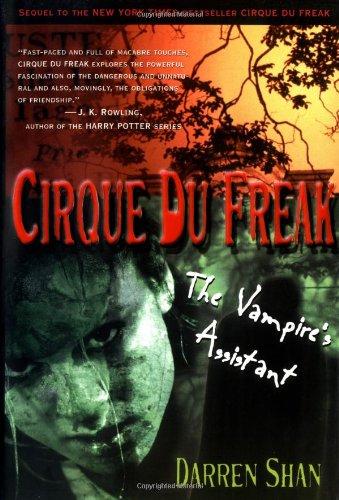 cirque du freak  CIRQUE DU FREAK : The Vampire's Assistant (autographed copy) by SHAN ...
