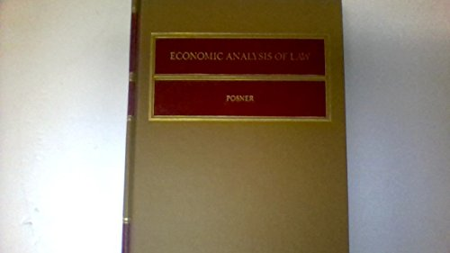 9780316714389: ECONOMIC ANALYSIS OF LAW.