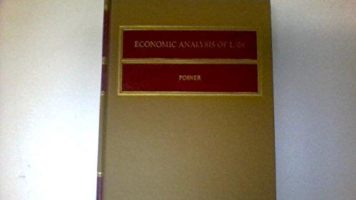 9780316714389: ECONOMIC ANALYSIS OF LAW.
