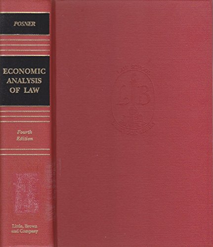 9780316714440: Econ Analysis Law 4Th E