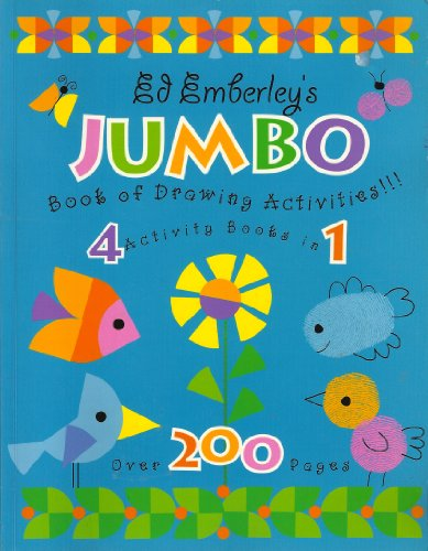 9780316735568: Ed Emberley's Jumbo Book of Drawing Activities 4 Activity Books in 1