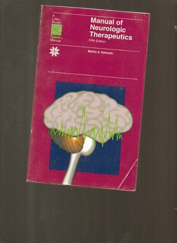 9780316770033: Manual of Neurologic Therapeutics