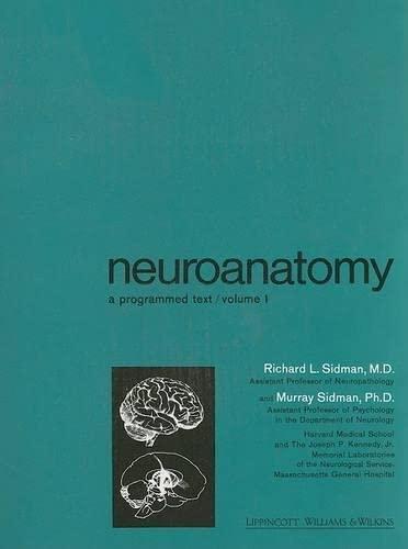 9780316789851: Neuroanatomy: A Programmed Text, Vol. 1