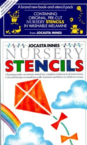 9780316906630: The Painted Nursery Stencils Collection: Kites and Clouds 3 (Jocasta Innes painted stencils)