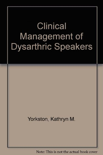 9780316969178: Clinical Management of Dysarthric Speakers