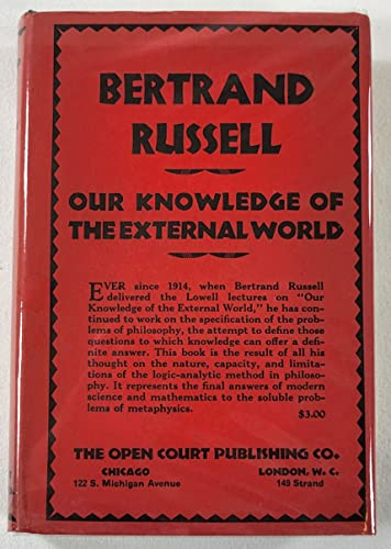 9780317403978: Our Knowledge of the External World