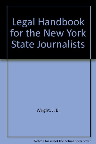 9780317597264: Legal Handbook for the New York State Journalists