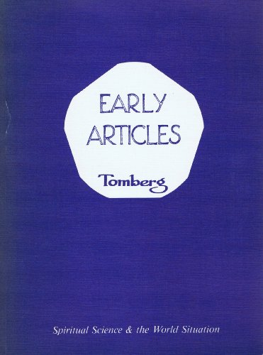 9780317933918: Early Articles: Spiritual Science and the World Situation