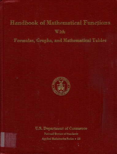 9780318117300: Handbook of Mathematical Functions, With Formulas, Graphs and Mathematical Tables (Natl Bureau Stand Applied Math Sr No. 55 003-003-00279-8)