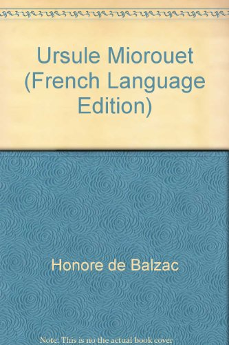 9780318636122: Ursule Mirouet (French Language Edition) (French Edition)