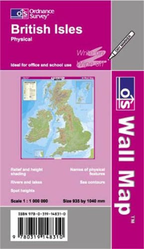 9780319148310: British Isles Physical (OS Wall Map)