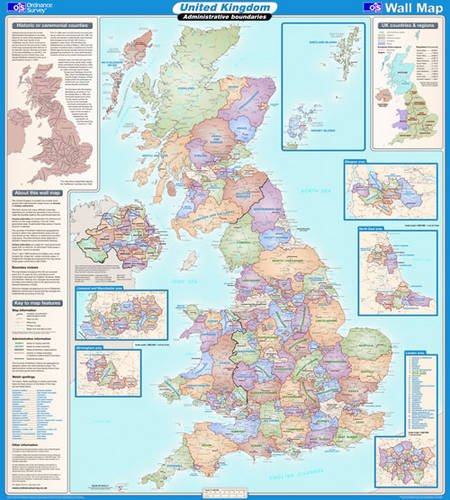 9780319148334: United Kingdom Administrative (OS Wall Map)