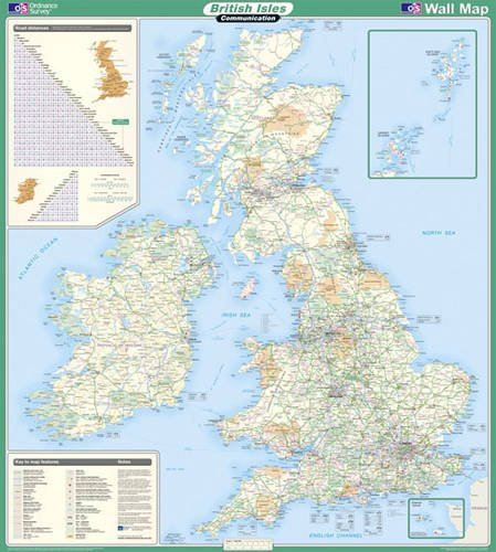9780319148358: British Isles Communication (OS Wall Map)
