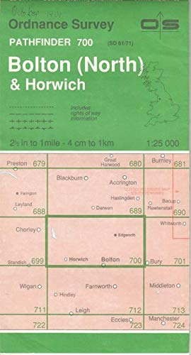 9780319207000: Pathfinder Maps: Bolton (North) and Horwich Sheet 700 (SD61/71)