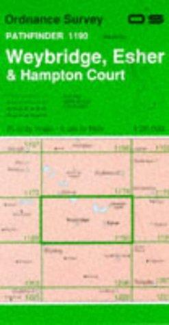 Pathfinder Maps: Weybridge, Hampton Court and Esher Sheet 1190 (TQ06/16): Ordnance Survey