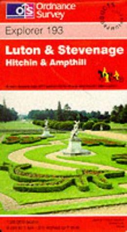 Luton and Stevenage. Hitchin and Ampthill: Explorer: Ordnance Survey
