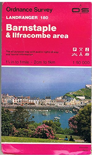 Landranger Maps: Barnstaple and Ilfracombe Area Sheet 180 (OS Landranger Map)