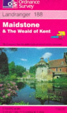 9780319221884: Landranger Maps: Maidstone and the Weald of Kent Sheet 188 (OS Landranger Map)