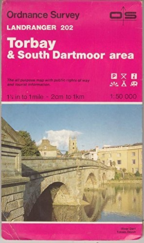 9780319222027: Torbay and South Dartmoor Area - Ordnance Survey Landranger Maps 202