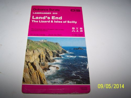 9780319222034: Land's End, the Lizard and Isles of Scilly (Landranger Maps)