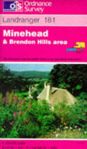 9780319222300: Minehead and Brendon Hills Area (Landranger Maps)