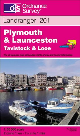 9780319223055: Plymouth and Launceston, Tavistock and Looe (Landranger Maps)