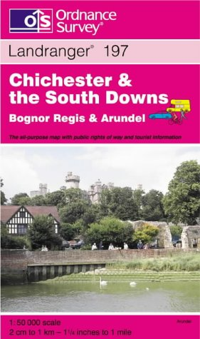 9780319224410: Chichester and the South Downs, Bognor Regis and Arundel (Landranger Maps)