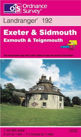 9780319224649: Exeter and Sidmouth, Exmouth and Teignmouth (Landranger Maps)