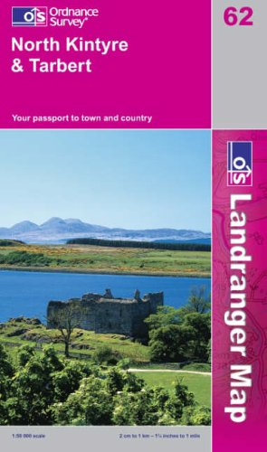 9780319226629: ***North Kintyre & Tarbert*** (Landranger Maps)
