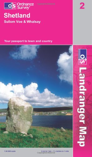9780319228081: Shetland - Sullom Voe and Whalsay (OS Landranger Map)