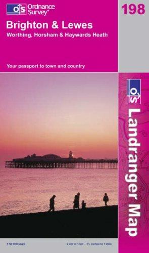 Brighton and Lewes, Haywards Heath (Landranger Maps): Ordnance Survey