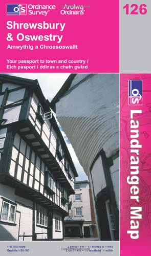 Shrewsbury and Oswestry (OS Landranger Map Series)
