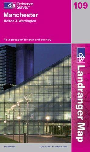 9780319228838: Manchester, Bolton and Warrington (OS Landranger Map)