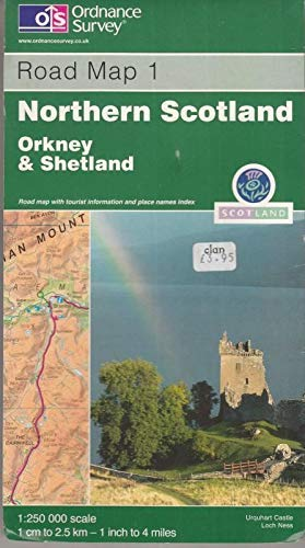 9780319230404: Northern Scotland Orkney Shetland Map (Road Map)