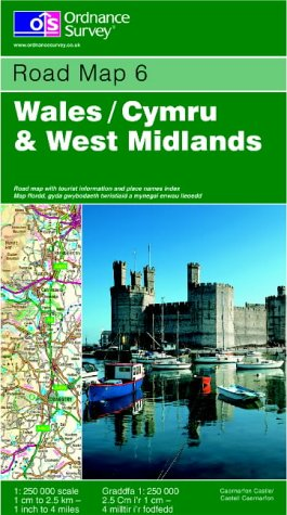 9780319230459: Wales and West Midlands (Road Map)